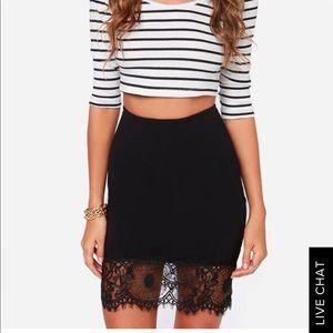 Lulus Black Lace Skirt Size L